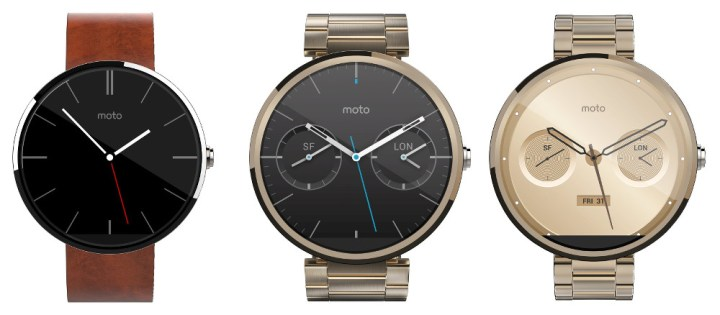You can buy three versions of the Moto 360.