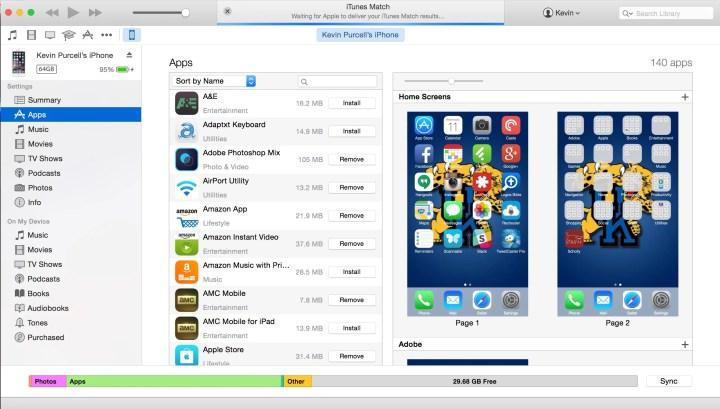 iphone app screen in itunes