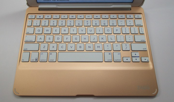 Type fast and with good accuracy on the Zagg Slim Book.