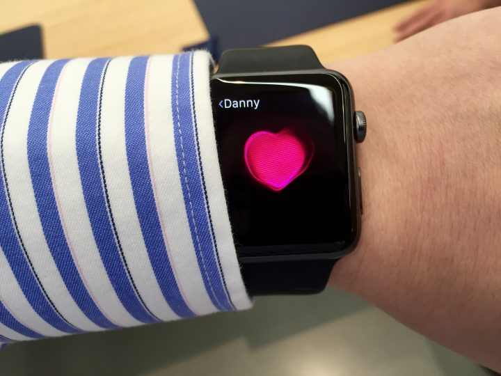 While I won't use the heartbeat option much, the Apple Watch features are interesting.