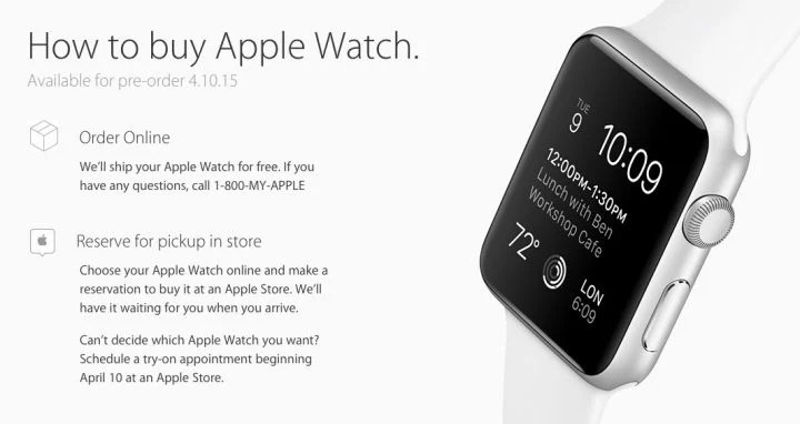 How to buy the Apple Watch on release day.