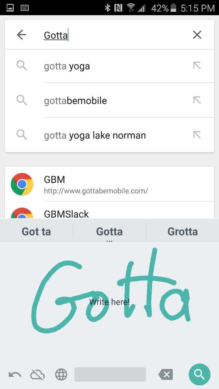 Google Handwriting Input