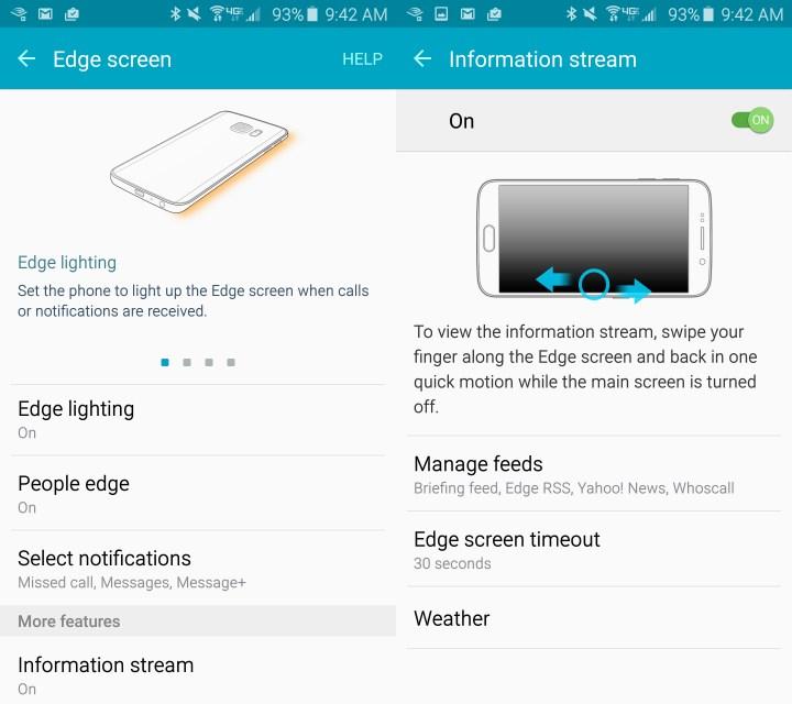 Set up Galaxy S6 Edge Notifications.