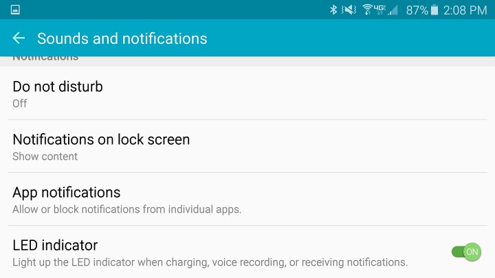 Stop that annoying Galaxy S6 notification LED.