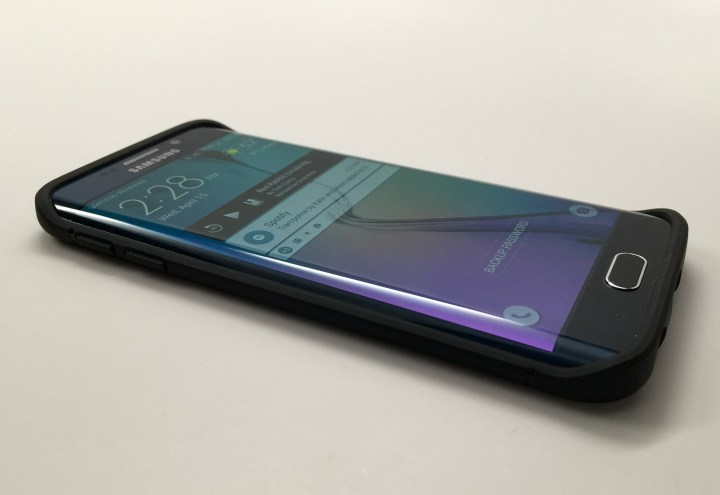 The Spigen Capsule Ultra Rugged Galaxy S6 Edge case delivers protection and still offers access to the special features.