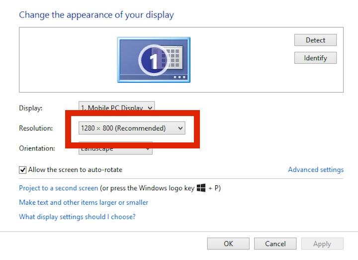 Toshiba Encore 2 Write Windows 8.1 Tablet display resolution