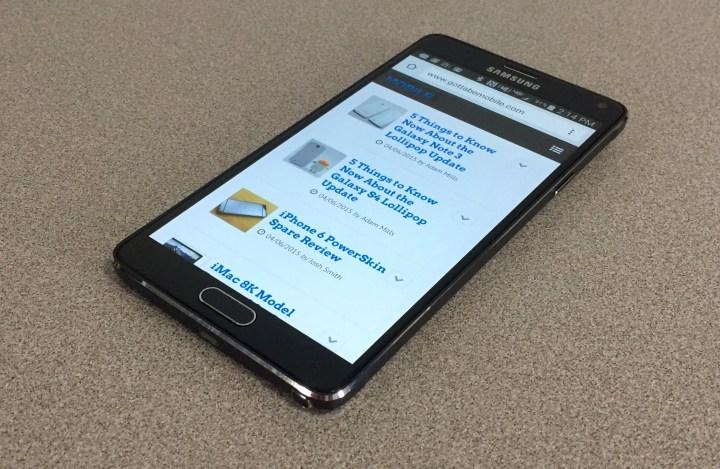 Verizon Galaxy Note 4 Lollipop Update Review - 7