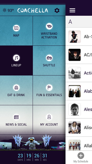 The official Coachella app comes with set times and a map.