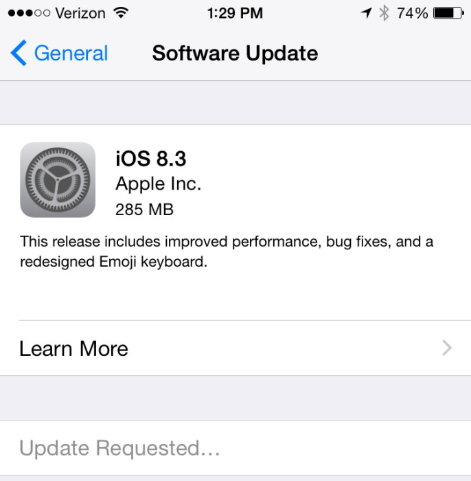 Learn how to install iOS 8.3.