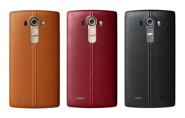 This is the new leather-clad LG G4