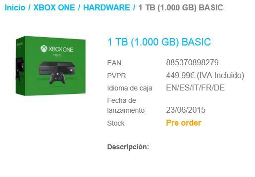 1tb xbox one leak