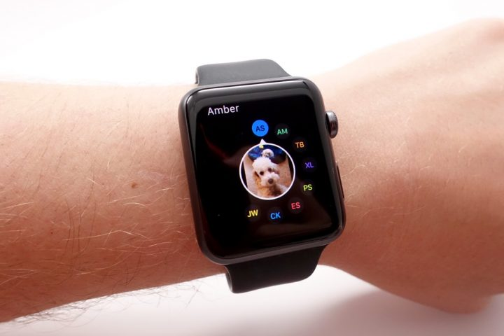 Quickly connect with friends using a tap of the side button on the Apple Watch.