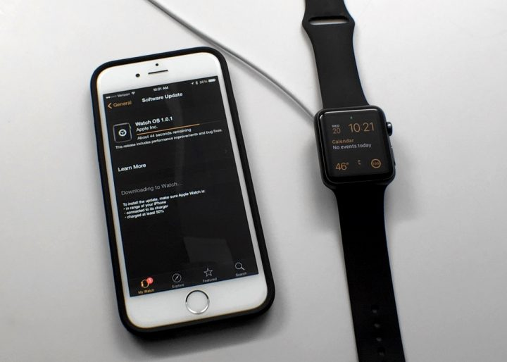 You'll need the Apple Watch charger to update.