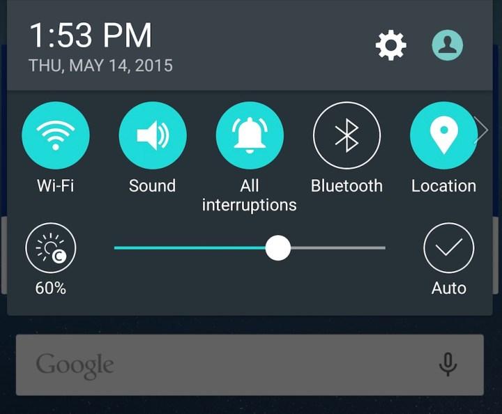 G4 notificationbar
