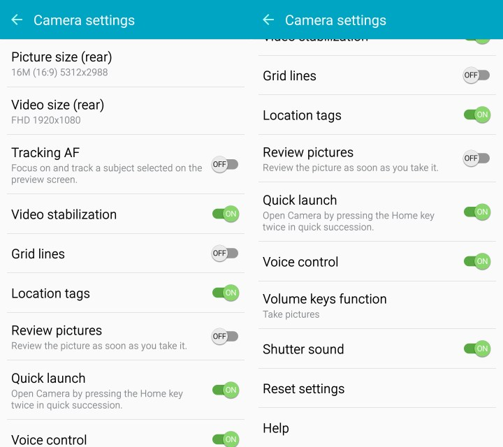 Learn which Galaxy S6 camera settings to change.