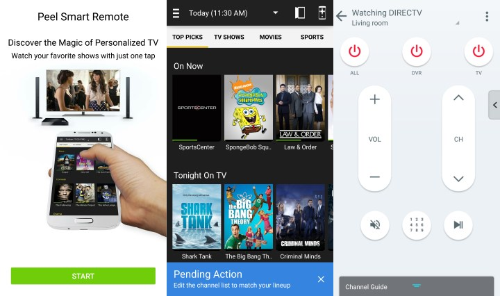 Control your HDTV with the Galaxy S6.