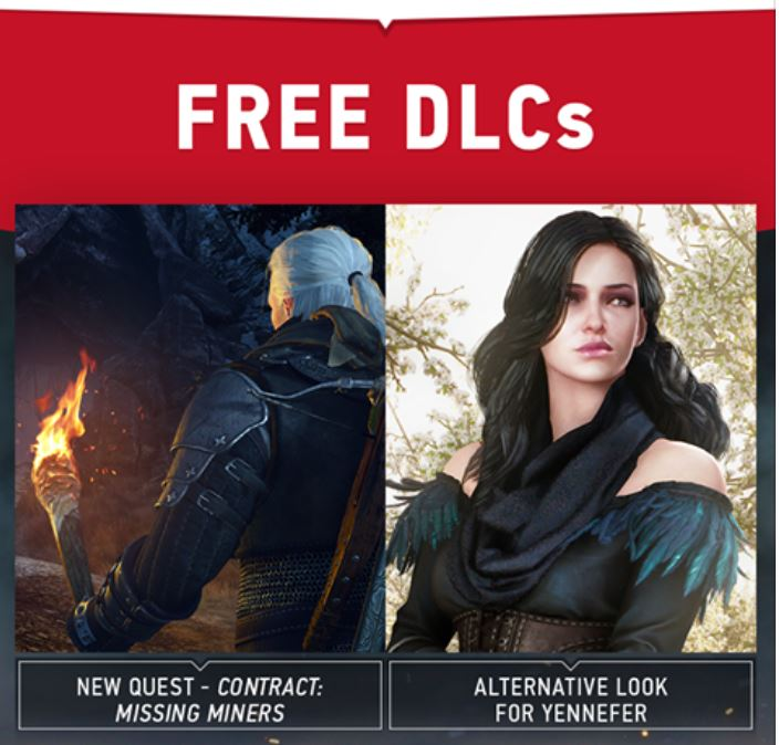 The Witcher 3 Wild Hunt free DLC