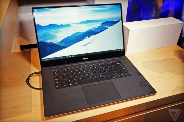 A picture of the Dell XPS 15 2015 taken by The Verge.