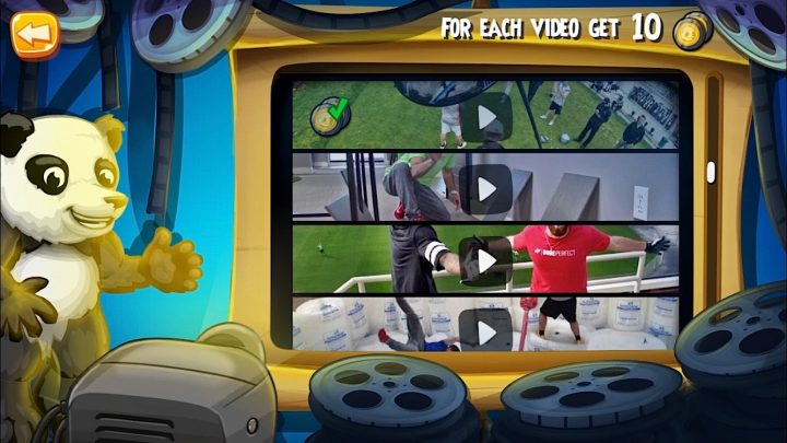 Watch Dude Perfect videos in the Dude Perfect 2 app to earn rewards.