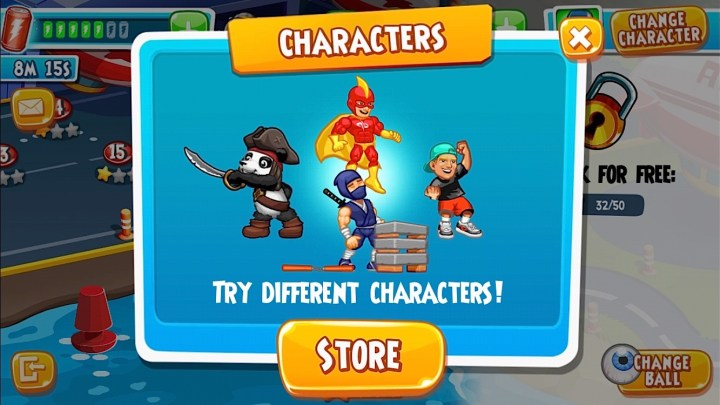 Spend money on in game items with Dude Perfect 2 in app purchases.