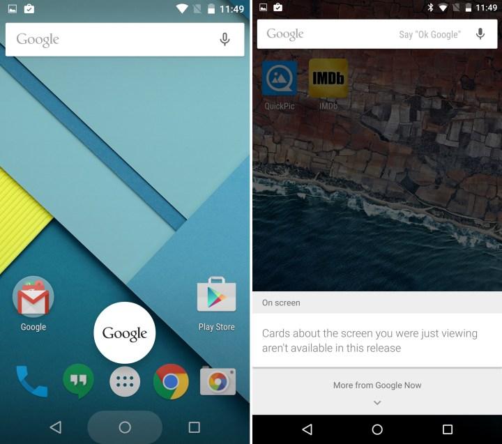 M vs Google Now Tap