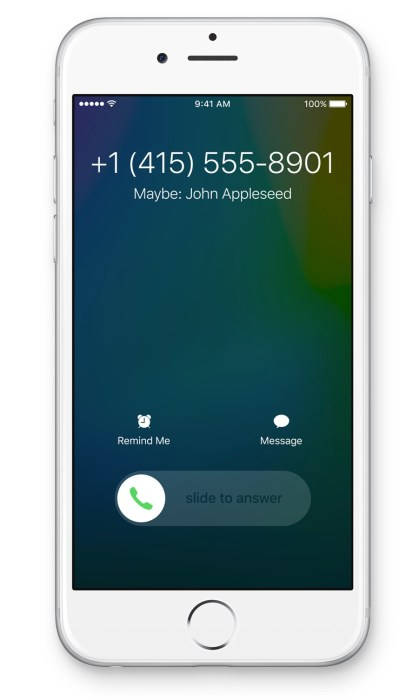 IOS 9 can search email to identify callers.