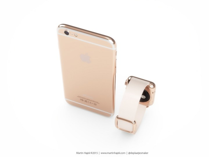 What a rose gold iPhone 6s might look like.