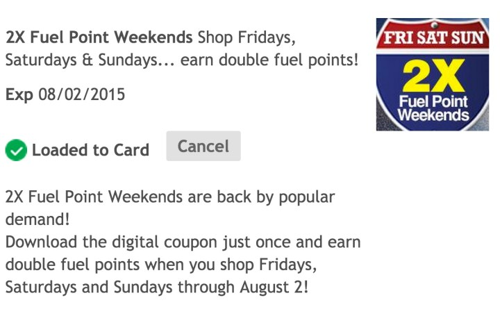 Make sure you maximize your Kroger Fuel Points with digital coupons.