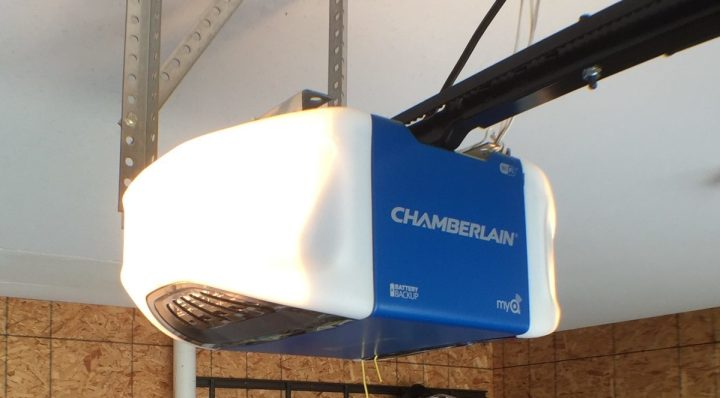 The Chamberlain WiFi garage door opener lets users control with iPhone or Android and includes alerts and smart features.