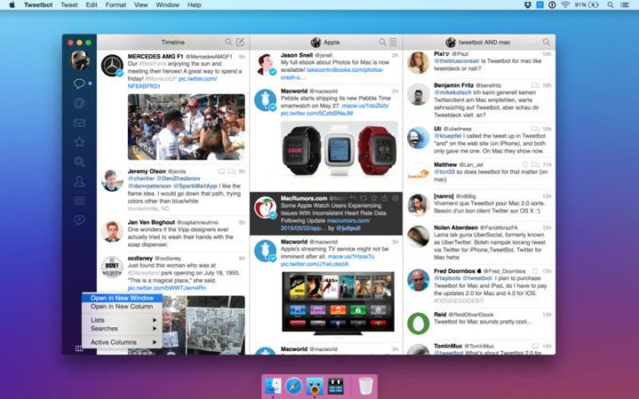 Tweetbot for Mac is essential for heavy Twitter users.
