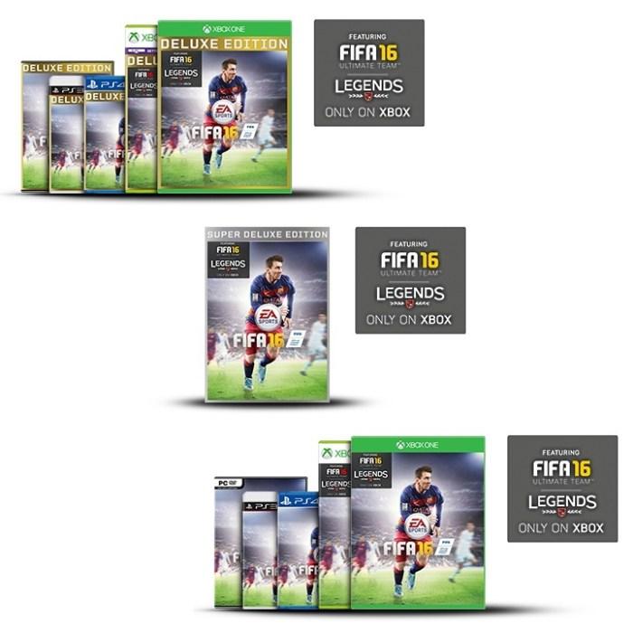 FIFA 16 Versions