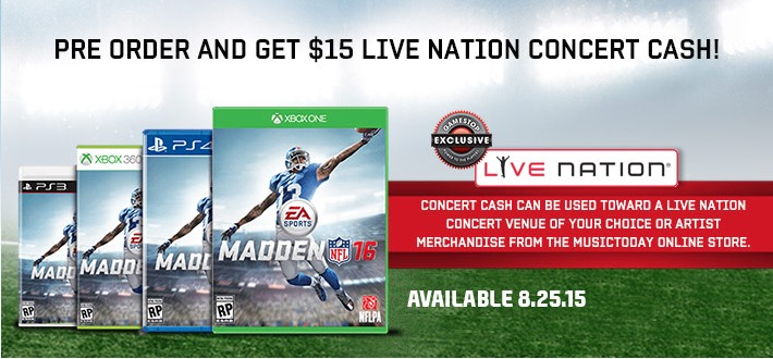 Catch several Madden 16 pre-order bonuses.