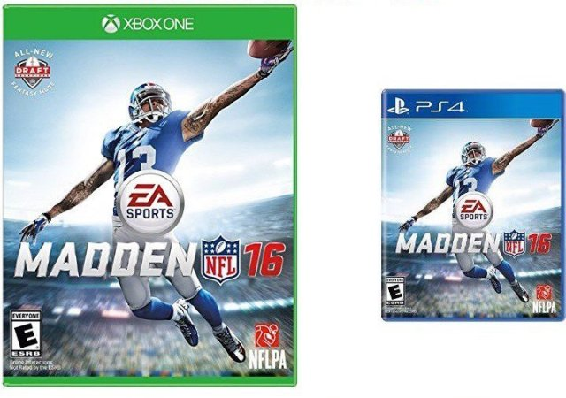 The Madden 16 cover features Odell Beckham Jr.