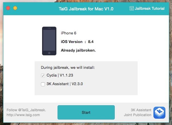 How to Jailbreak iOS 8 4 on Mac with TaiG