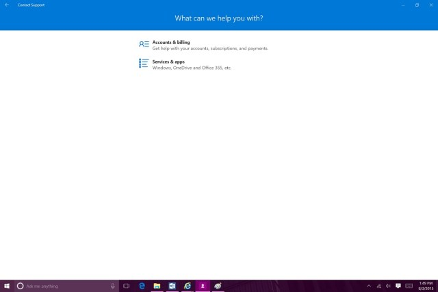 contact support windows 10
