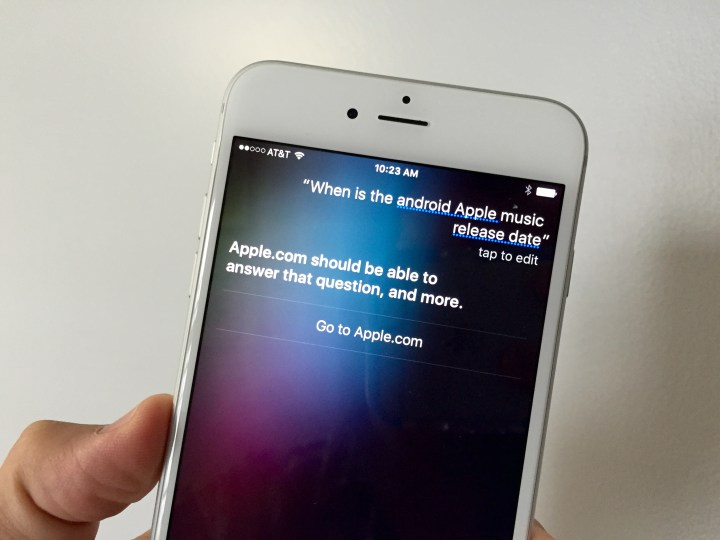 Siri is not helpful, but it is possible that the Apple Music Android release date is coming in September.