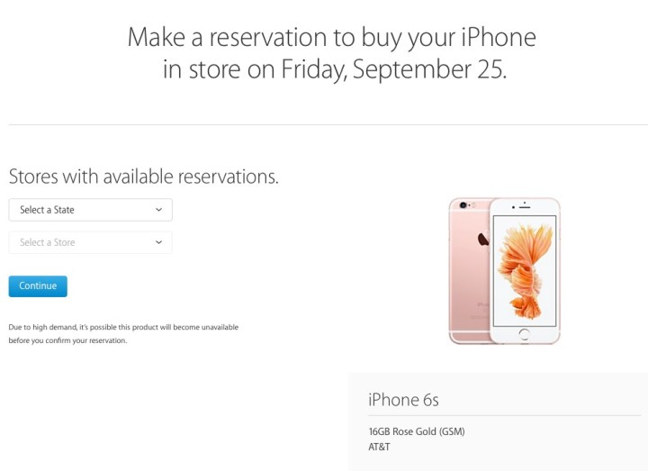 Start your iPhone 6s reservation.