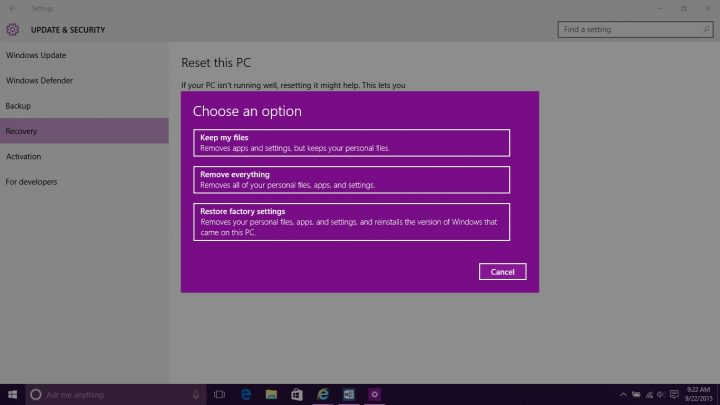 How to Reset Windows 10 (8)