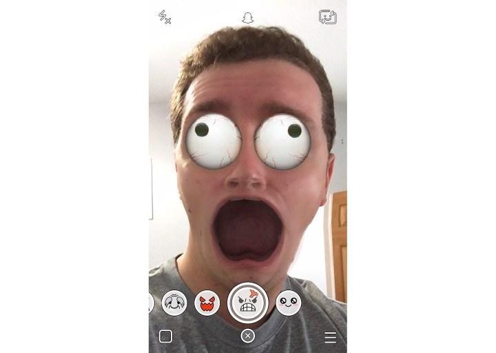 Scream Snapchat Lens