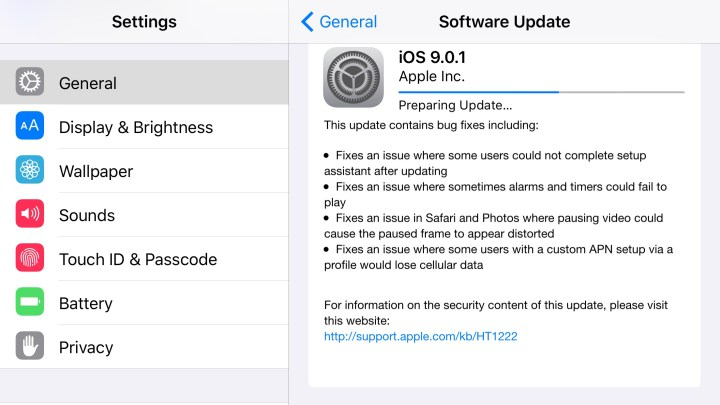 What's New iOS 9.0.1 update - 2
