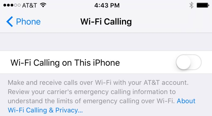 iOS 9 Settings to Change - Wifi calling