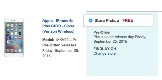 You can still buy the iPhone 6s Plus for release date pickup.