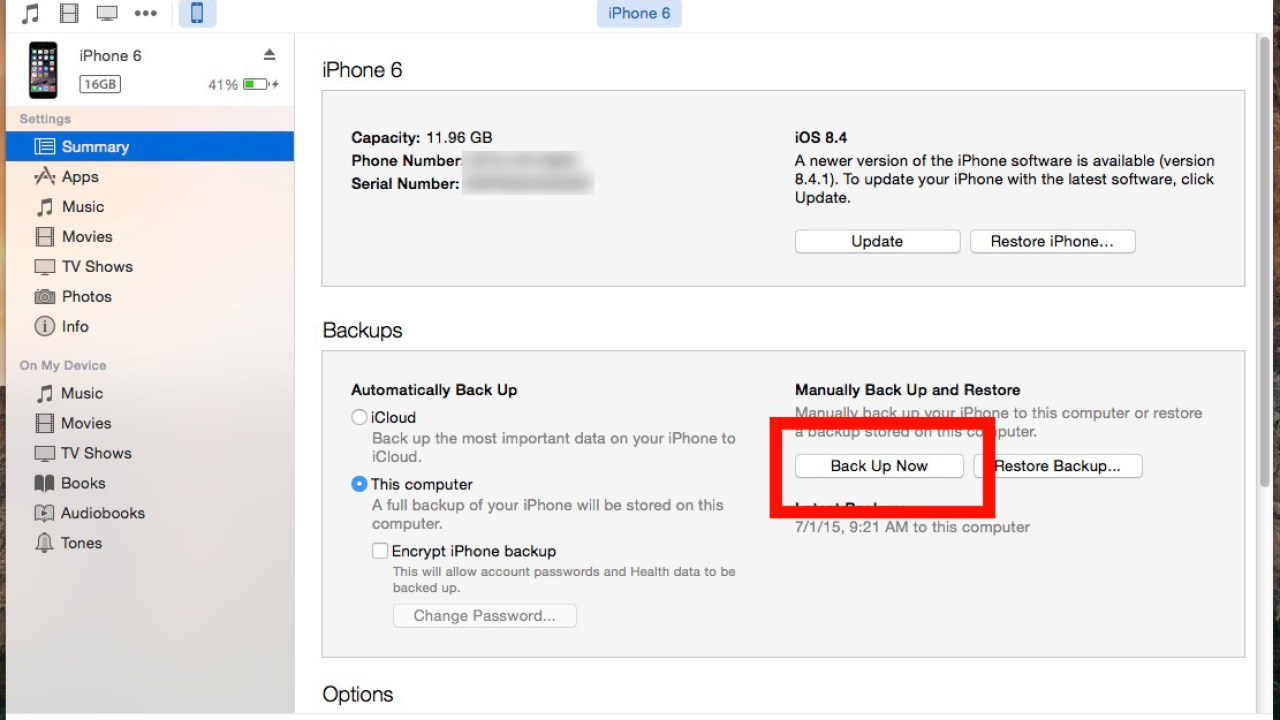 How to Back Up Your iPhone with iTunes on Mac