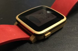 pebble time steel left side button
