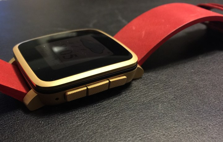 pebble time steel right side buttons