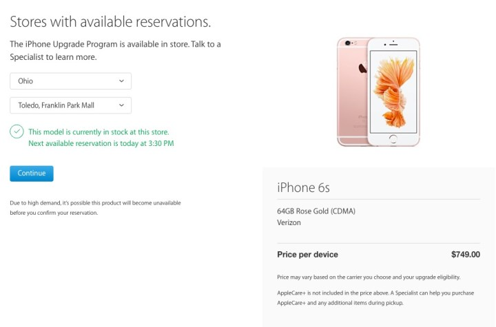 Find Rose Gold iPhone 6s in Stock - 1