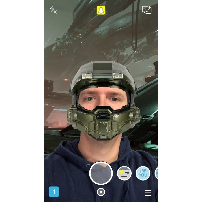 Halo 5 Snapchat Lenses for Master Chief