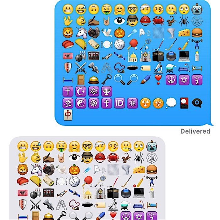 Here are some of the new emojis in iOS 9.1.