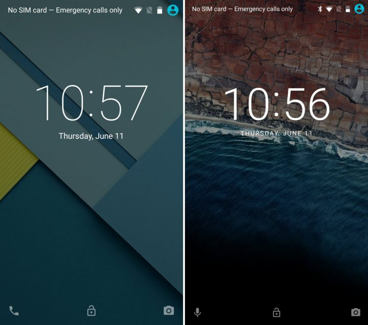 Android 5.1 vs Android 6.0: Lockscreen