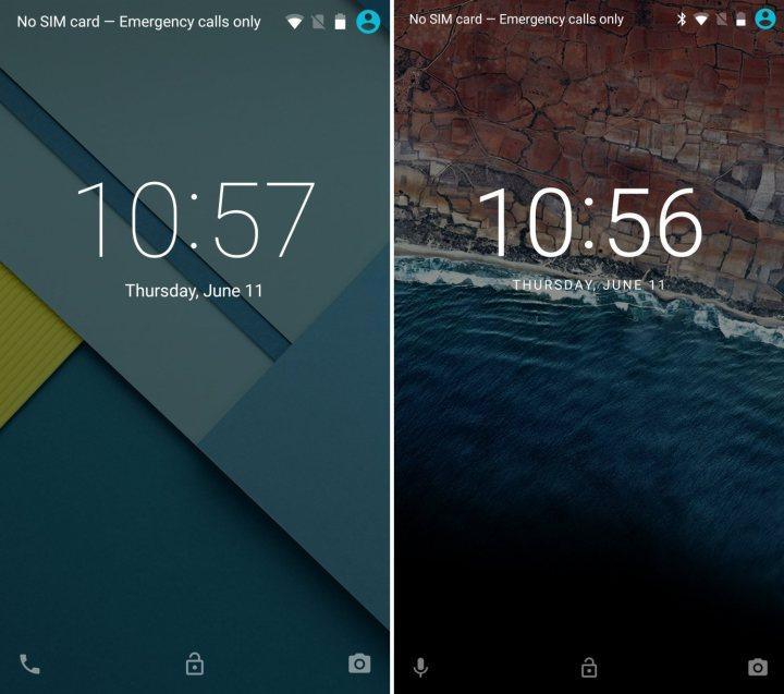 Android 5.1 vs Android 6.0: Lockscreen